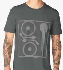 2 turntables and a microphone Men's Premium T-Shirt