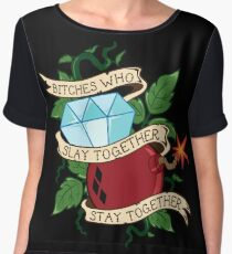 Slay Together, Stay Together - Gotham City Sirens Women's Chiffon Top