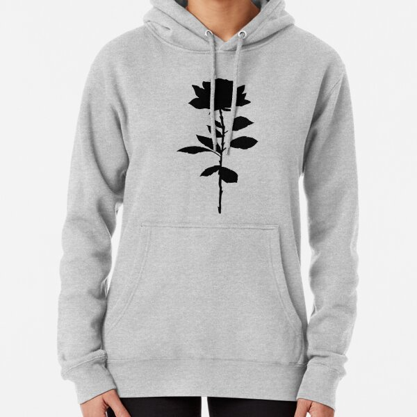 Simple Rose Silhouette  Pullover Hoodie