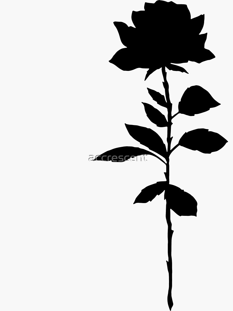Simple Rose Silhouette  by accrescent