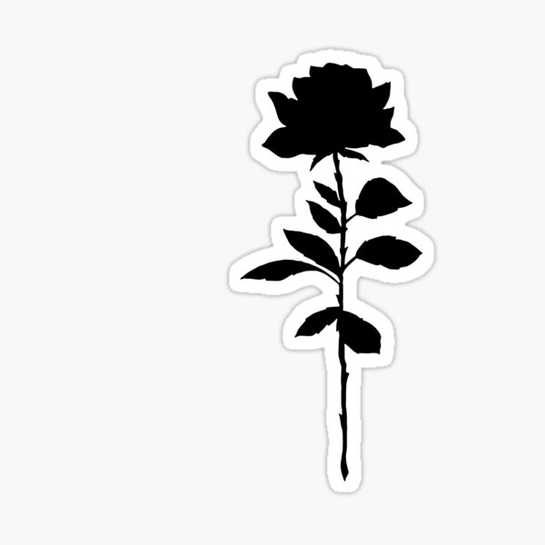 Simple Rose Silhouette  Sticker