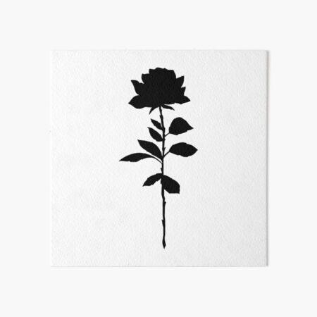 Simple Rose Silhouette  Art Board Print