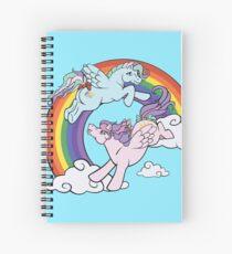 Rainbow Ponies Spiral Notebook