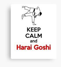 Bleib ruhig HARAI GOSHI! Leinwanddruck