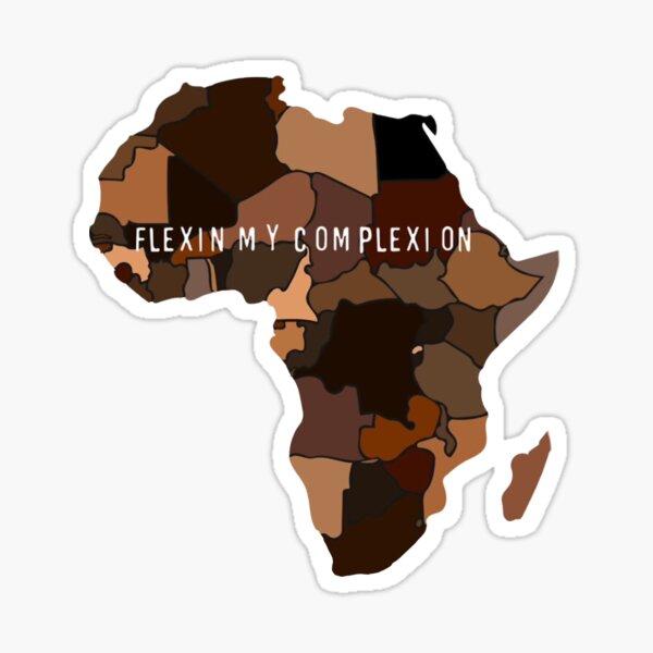 Flexin My Complexion Sticker