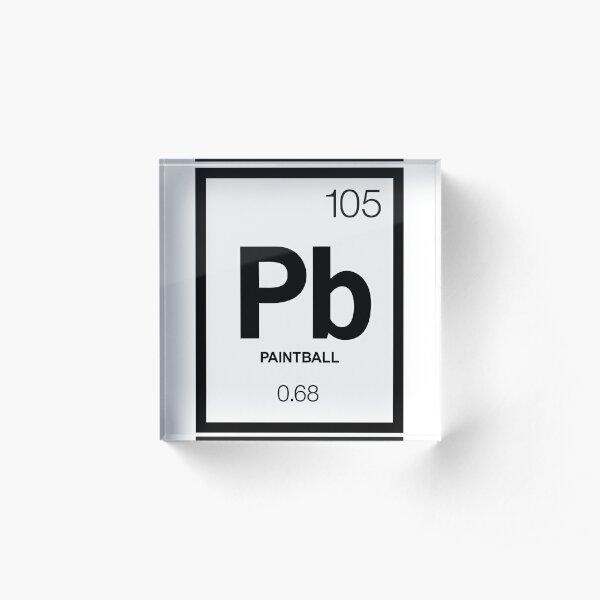 Periodic Paintball Acrylic Block