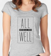 all shall be well Women's Fitted Scoop T-Shirt