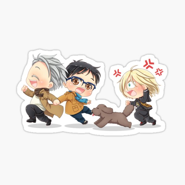 Run Run Leite Yuri auf Eis Sticker