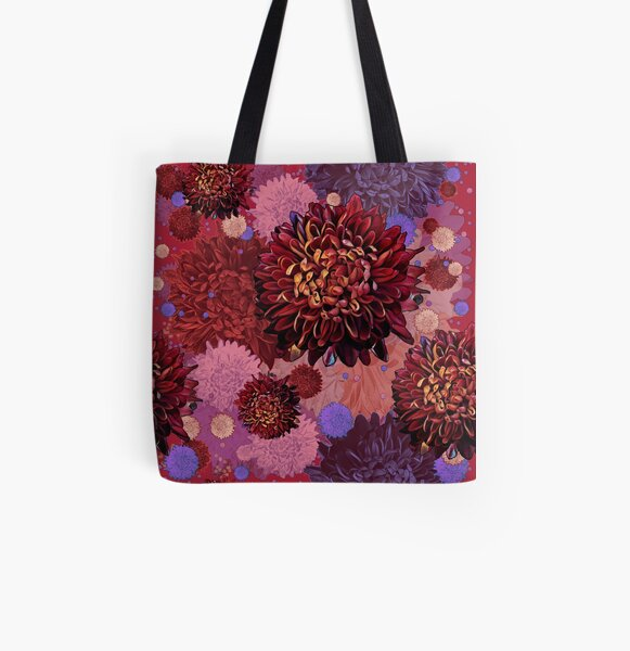 Mums the Word - red All Over Print Tote Bag
