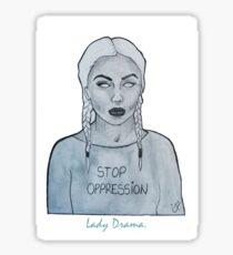 stop opression. Sticker