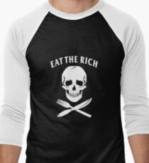 Eat The Rich Men's Baseball ¾ T-Shirt