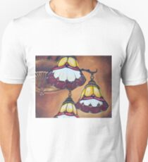 Ceiling Lamps In Red and Orange Unisex T-Shirt