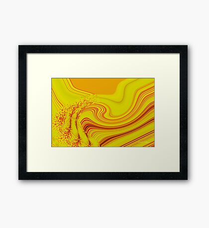 The Flow of Yellow Framed Print