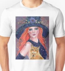 TTta                                  Tabitha Halloween with and kitty by Renee L lavoie T-Shirt