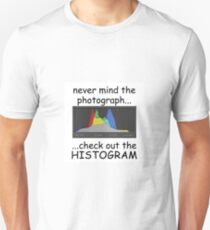 Photograph or Histogram, which is better? T-Shirt