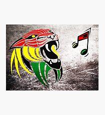 Grunge Reggae Music Lion Photographic Print