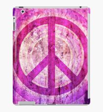 Peace Sign - Grunge Texture with Scratches iPad Case/Skin