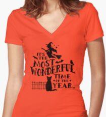 Camiseta entallada de cuello en V Tiempo maravilloso