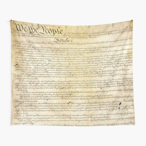 Vintage United States Constitution Tapestry