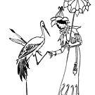 Crane Greets Woman by ceemoon