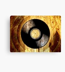 Vintage Vinyl Record Rust Texture - RETRO MUSIC DJ! Canvas Print