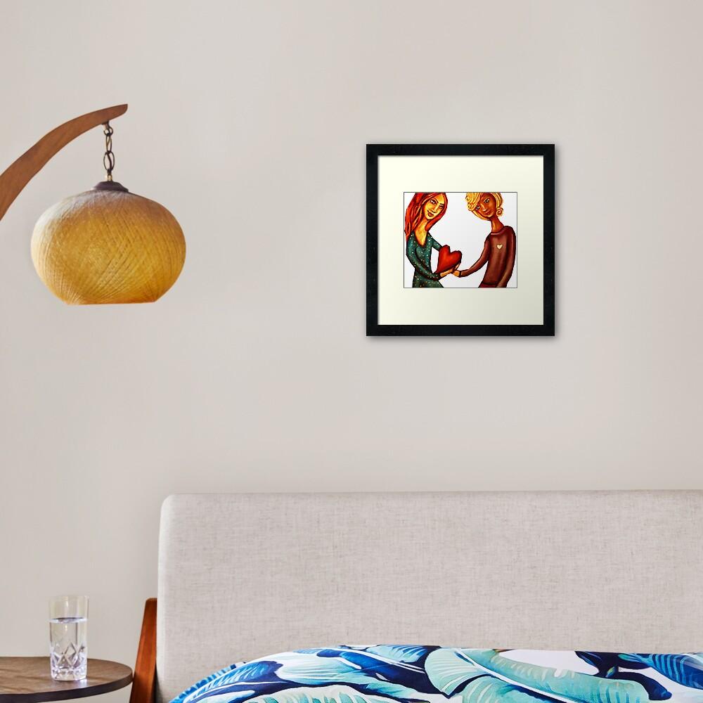Look After My Heart Framed Art Print