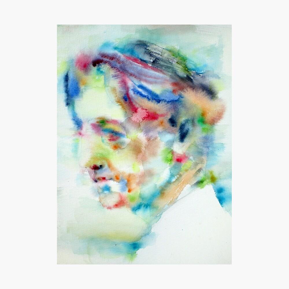 various sizes available JIDDU KRISHNAMURTI watercolor portrait POSTER print!