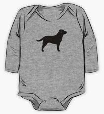 Body de manga larga para bebé Black Labrador Retriever Silhouette (s)