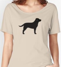 Black Labrador Retriever Silhouette(s) Women's Relaxed Fit T-Shirt