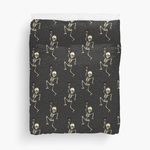 Skeleton Dance Party! Duvet Cover