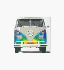 Colorful Psychedelic Groovy Peace Van Art Board