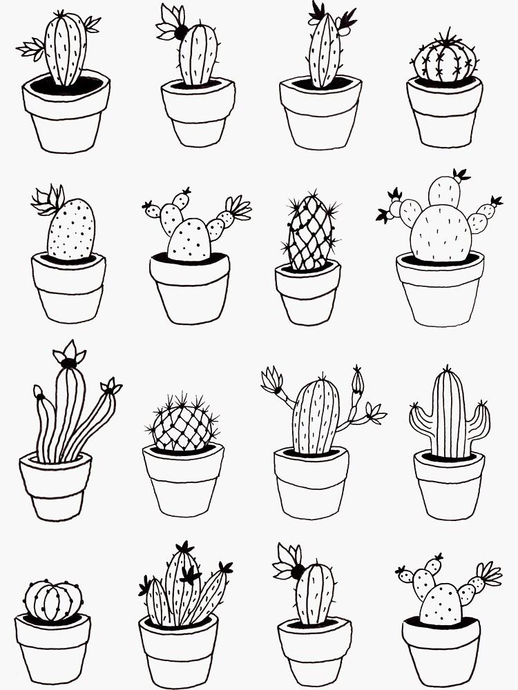 Hand Drawn Cactuses Pattern by mirunasfia