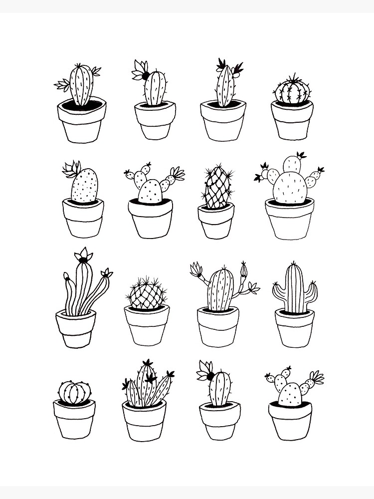 Hand Drawn Cactuses Pattern by mirunasfia