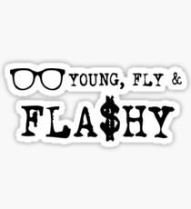 Young Fly And Flashy Sticker