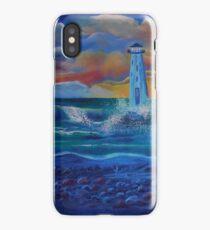 Beach Lighthouse iPhone Case