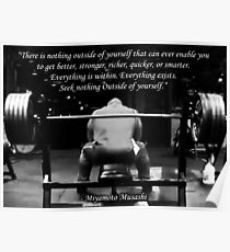 Everything Is Within - Bench Press Motivation Poster
