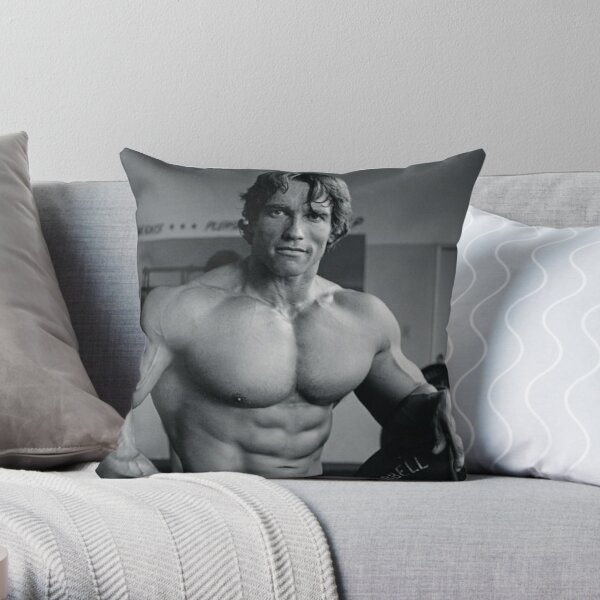 arnold schwarzenegger pillows  cushions  redbubble
