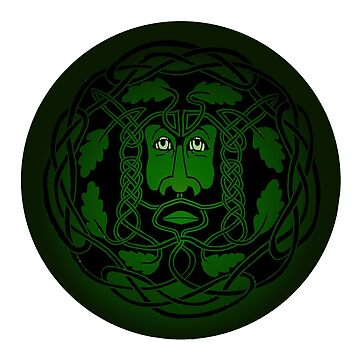 """green man"" pagan wild man with foliate head by oggacreations"