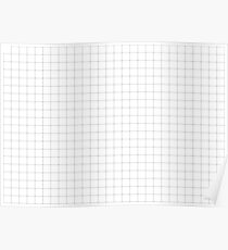 BLACK GRID PATTERN - SLIM STRIPES Poster