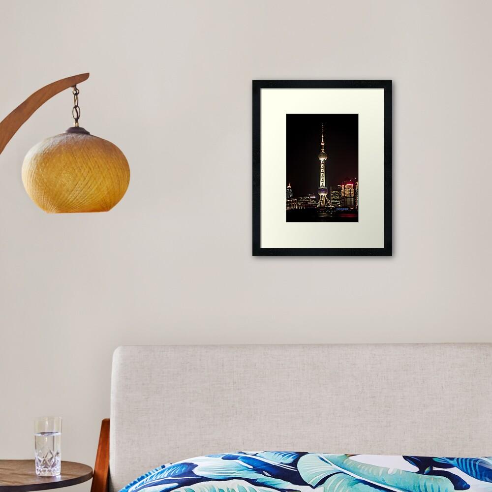 Oriental Pearl TV Tower. Framed Art Print