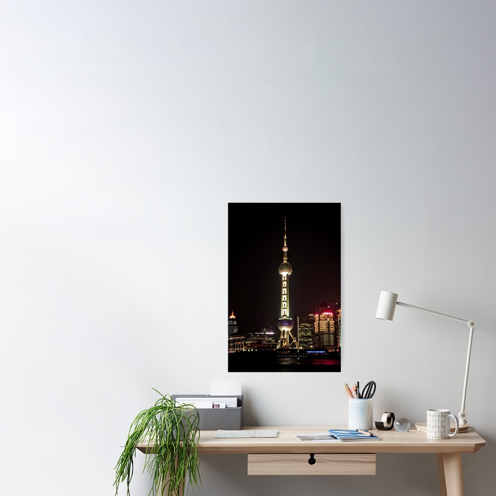 Oriental Pearl TV Tower. Poster