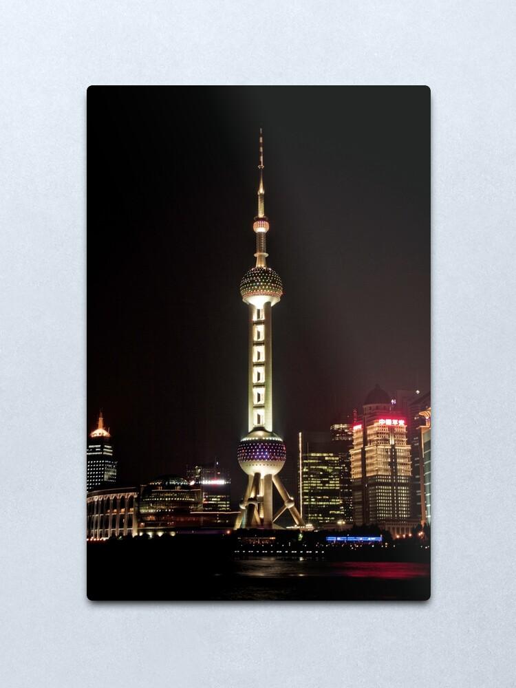 Alternate view of Oriental Pearl TV Tower. Metal Print