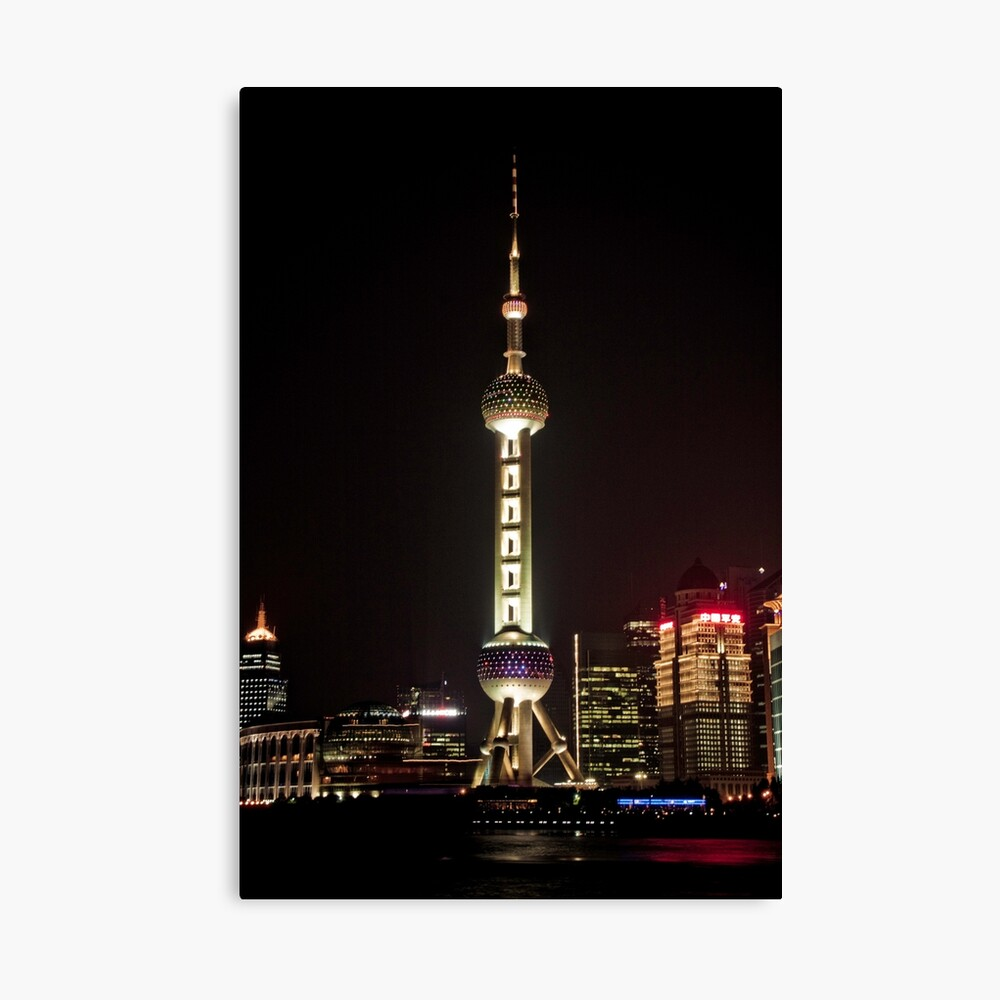 Oriental Pearl TV Tower. Canvas Print