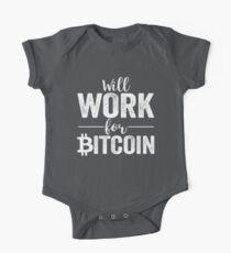 Wird für Bitcoin arbeiten Baby Body Kurzarm
