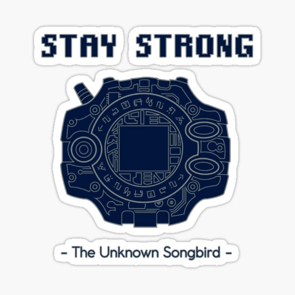 """""""Stay Strong"""" - Digimon Adventure Tri. - OP 1 English Lyrics for Butter-Fly Sticker"""