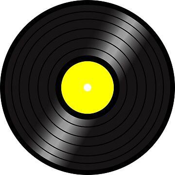 Vinyl LP(yellow center) by nealdepinto