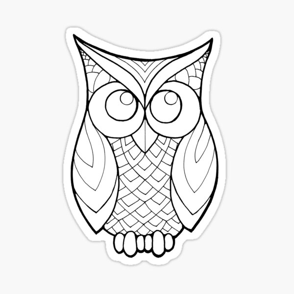 Color your Owl Sticker