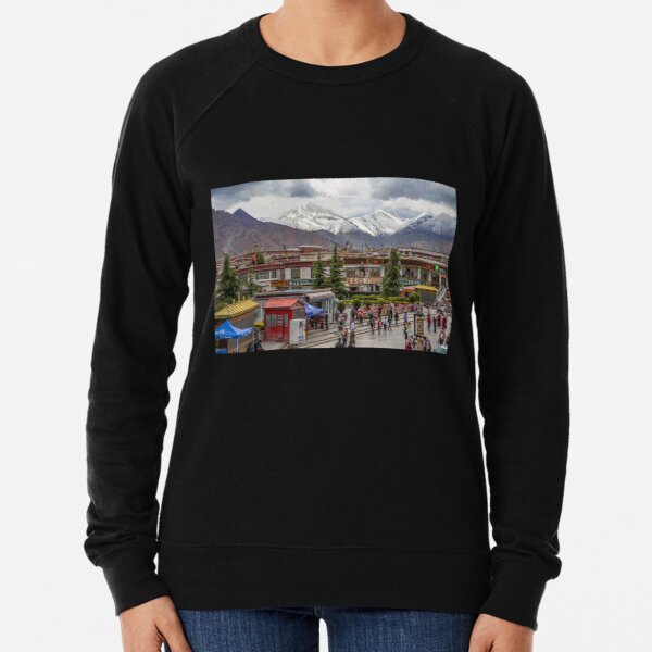 Tibet. Lhasa. Square with the Mountains in the background. Lightweight Sweatshirt