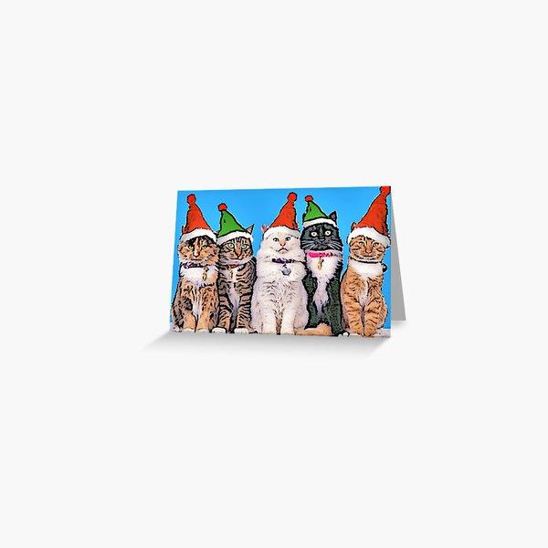 Jingle Cats Greeting Card