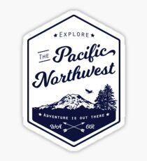 Pegatina Explore el noroeste del Pacífico (se indica)